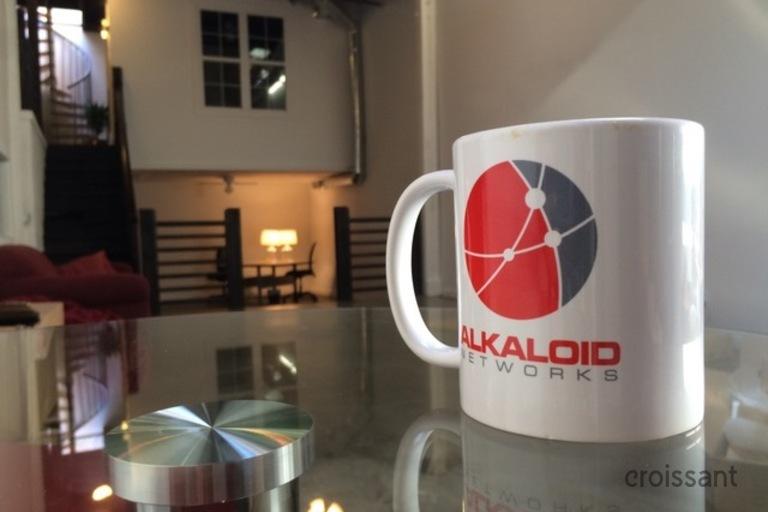 a coffee mug on a table