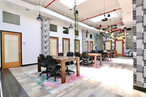 Main coworking area of the space