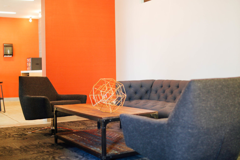 Lounge area for intimate small team meetings or even with a client