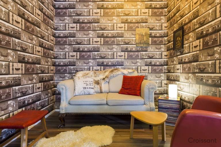 brick living room