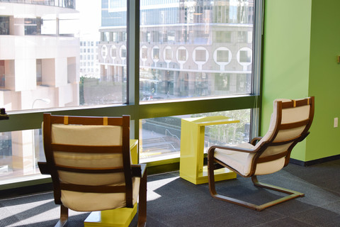 Great spot for people-watching while you cowork.