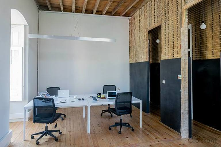 main coworking space with walls